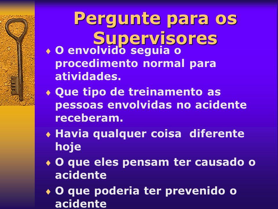 Prevenção O que precisa mudar ou seja melhorado para prevenir acidentes semelhantes no futuro.