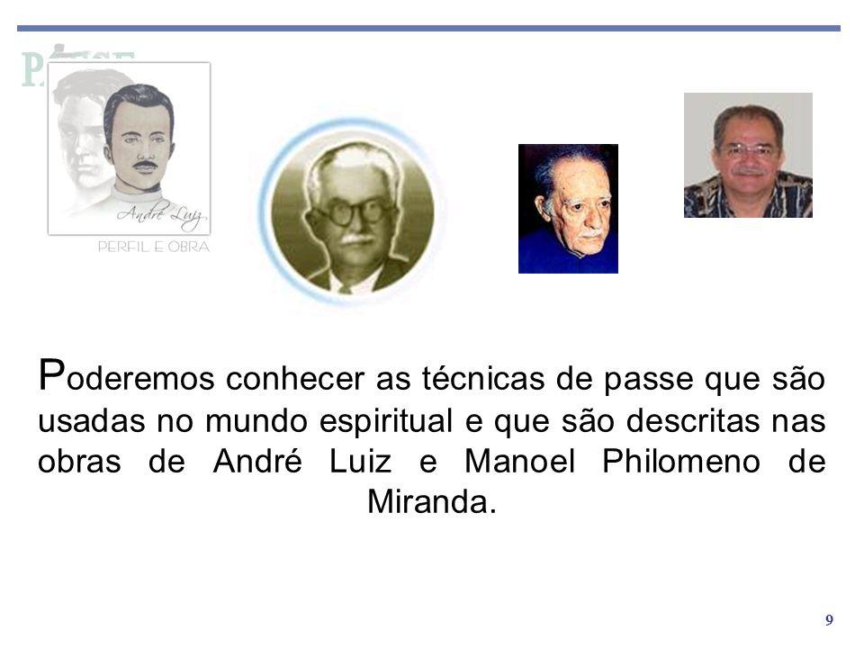 9 P oderemos conhecer as técnicas de passe que são usadas no mundo espiritual e que são descritas nas obras de André Luiz e Manoel Philomeno de Mirand