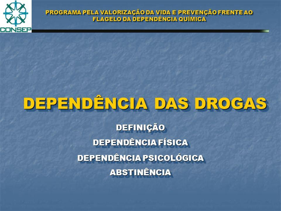 PROGRAMA PELA VALORIZAÇÃO DA VIDA E PREVENÇÃO FRENTE AO FLAGELO DA DEPENDÊNCIA QUÍMICA FORMA DE USO POR CONTATO VIA ORAL INALAÇÃOINALAÇÃO ASPIRADAS OU FUMADAS INJETADASINJETADAS