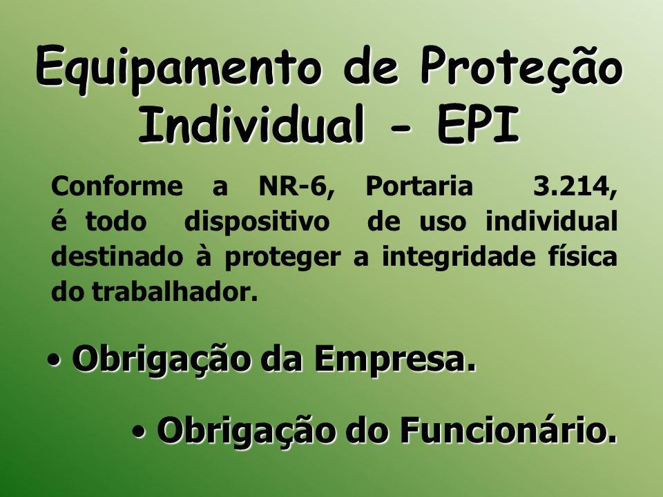 Equipamento de Proteção Individual - EPI Obrigação da Empresa. Obrigação da Empresa. Obrigação do Funcionário. Obrigação do Funcionário. Conforme a NR