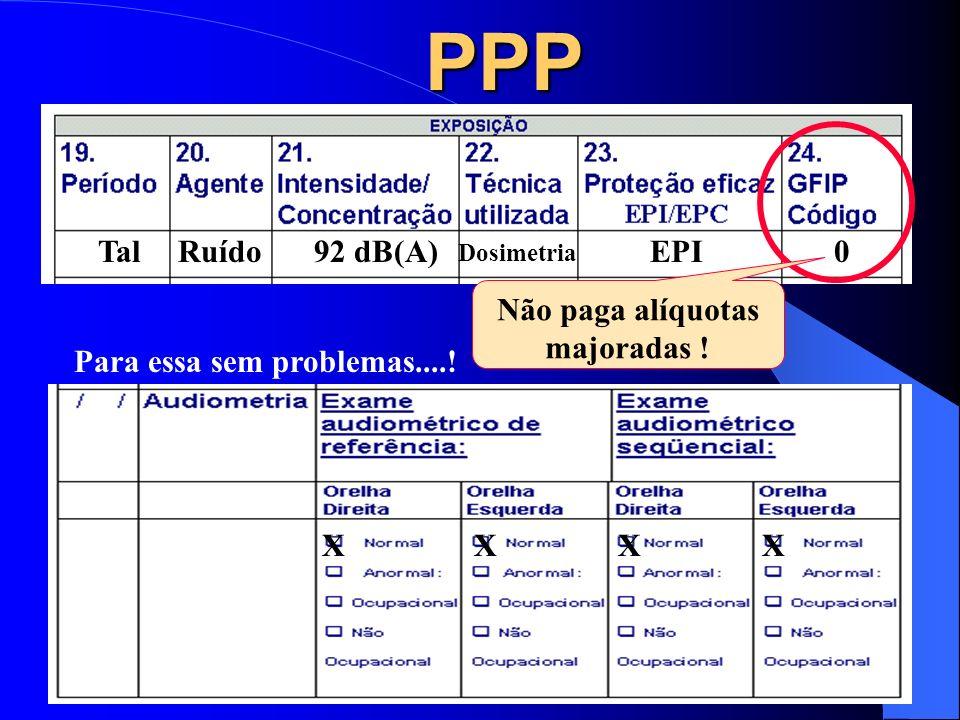 IMPLICAÇÃO LEGAL 1 DA CODIFICAÇÃO DA GFIP: O oferecimento de informações ambientais no PPP indicando contradições entre eventuais isenções de contribu