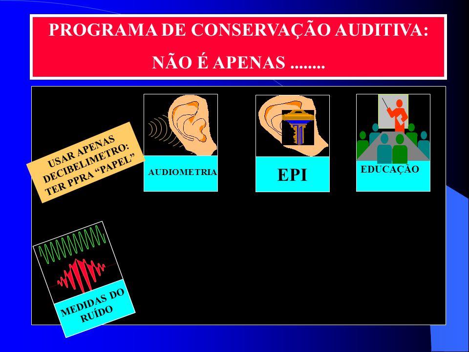 O QUE FAZER? Implantar um eficaz Programa de Conservação Auditiva PPP