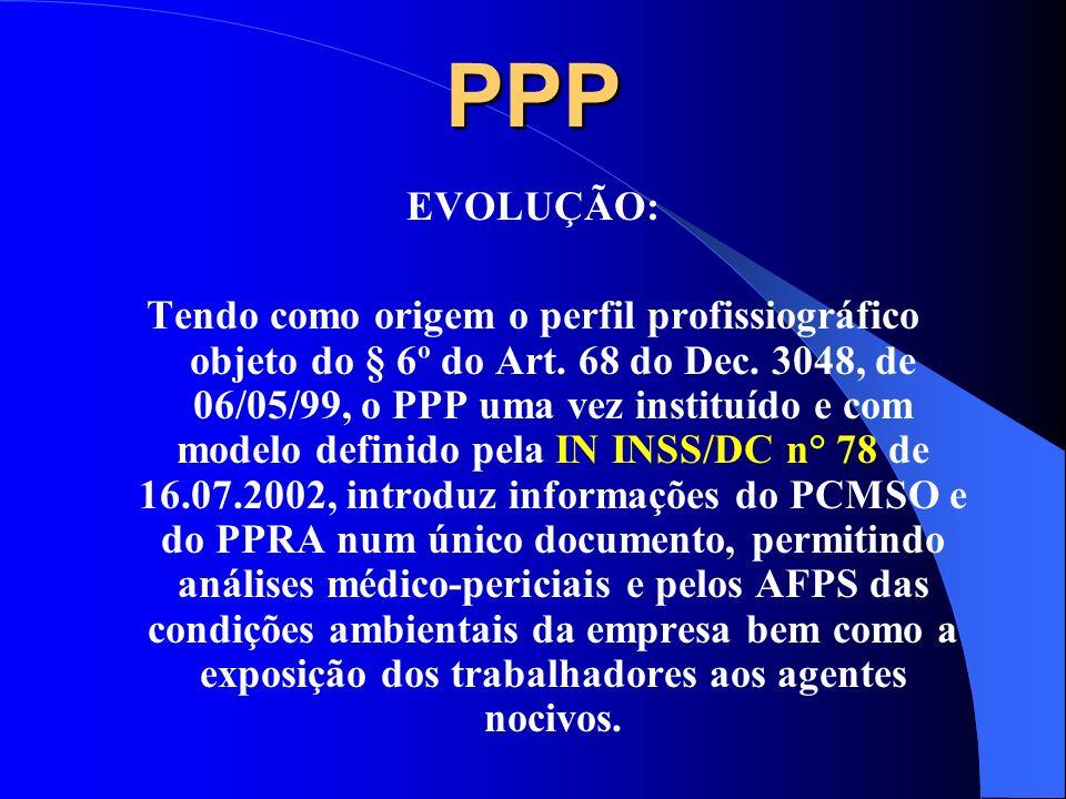 PPP PERFIL PROFISSIOGRÁFICO PREVIDENCIÁRIO Paulo Gonzaga pgonzaga@terra.com.br