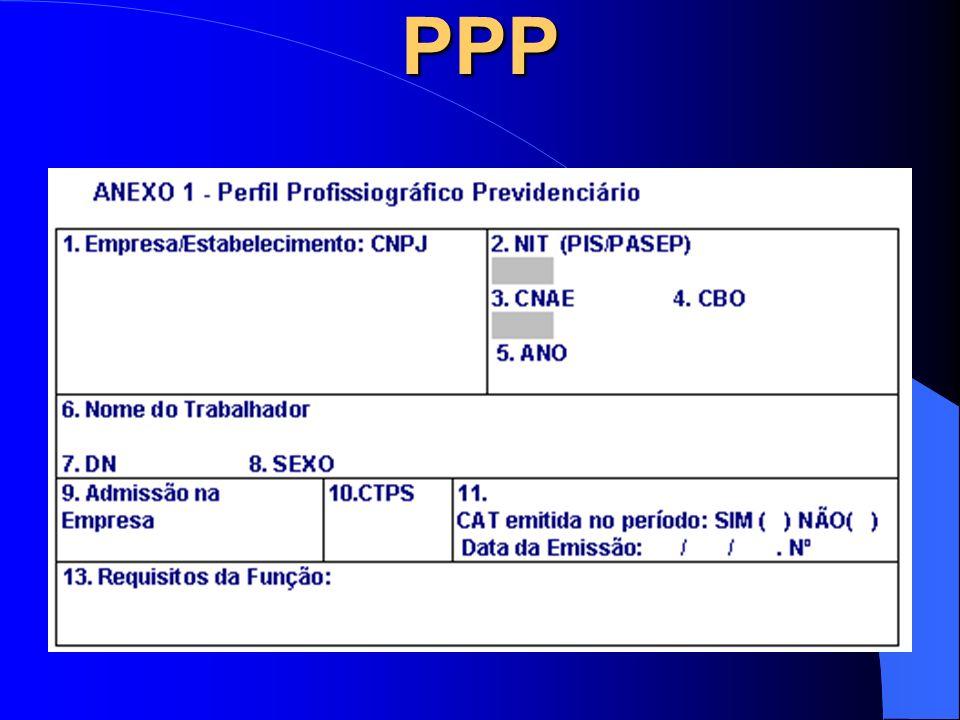CONCEITO: Documento histórico-laboral do trabalhador, segundo modelo instituído pelo INSS, que, entre outras informações, deve conter registros ambien
