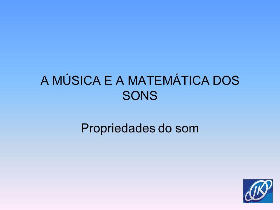 A MÚSICA E A MATEMÁTICA DOS SONS Propriedades do som