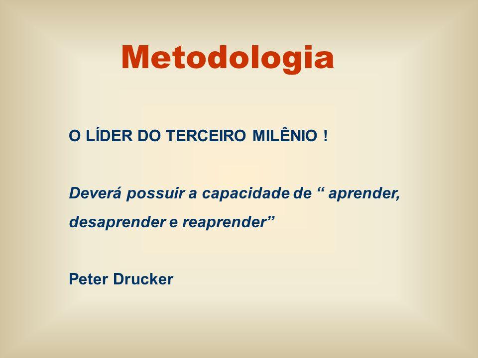O LÍDER DO TERCEIRO MILÊNIO ! Deverá possuir a capacidade de aprender, desaprender e reaprender Peter Drucker
