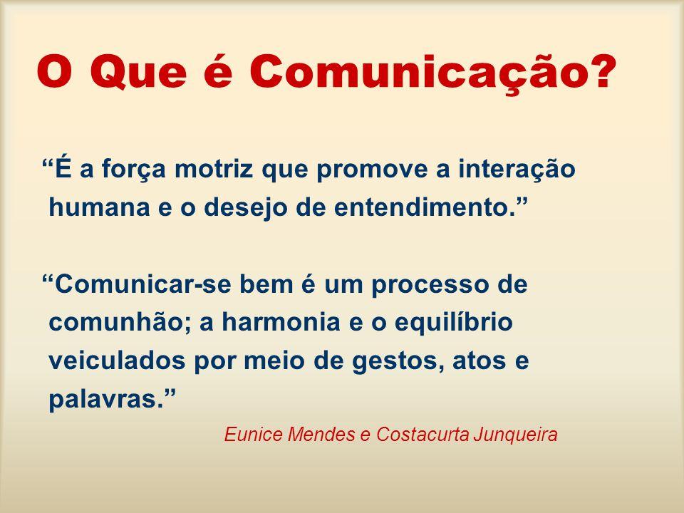 O Que é Comunicação? É a força motriz que promove a interação humana e o desejo de entendimento. Comunicar-se bem é um processo de comunhão; a harmoni