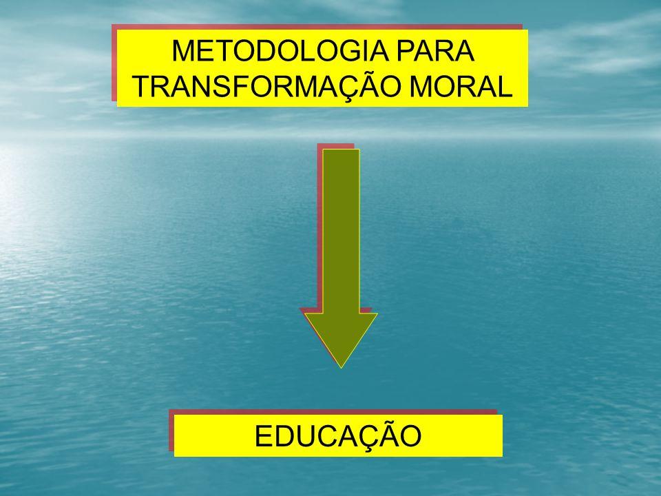 EDUCAÇÃO METODOLOGIA PARA TRANSFORMAÇÃO MORAL