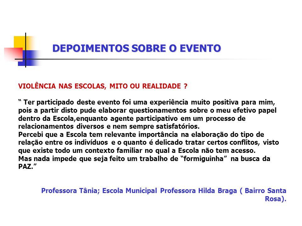 DEPOIMENTOS SOBRE O EVENTO A CLAMA ESTEVE PRESENTE ! 19/09 : A CLAMA esteve presente na palestra proferida pela professora Jorzeia Amorim. Ela se apre