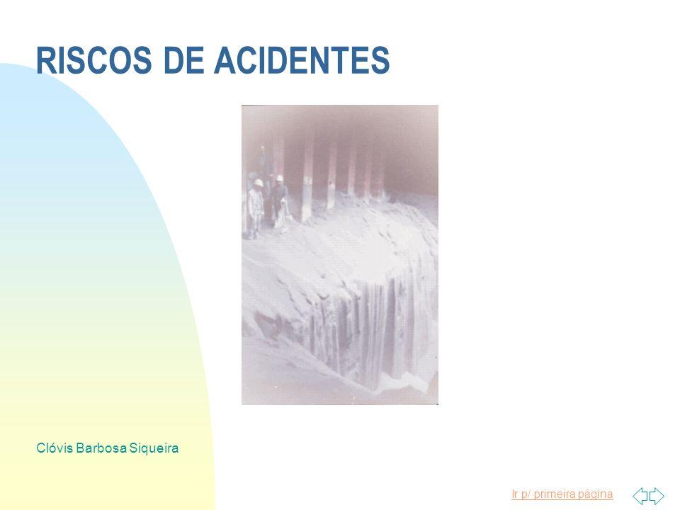 Ir p/ primeira página Clóvis Barbosa Siqueira ANÁLISE DE RISCOS n ANTECIPAÇÃO n RECONHECIMENTO n AVALIAÇÃO n PRIORIZAÇÃO n MEDIDAS DE CONTROLE n CRONO