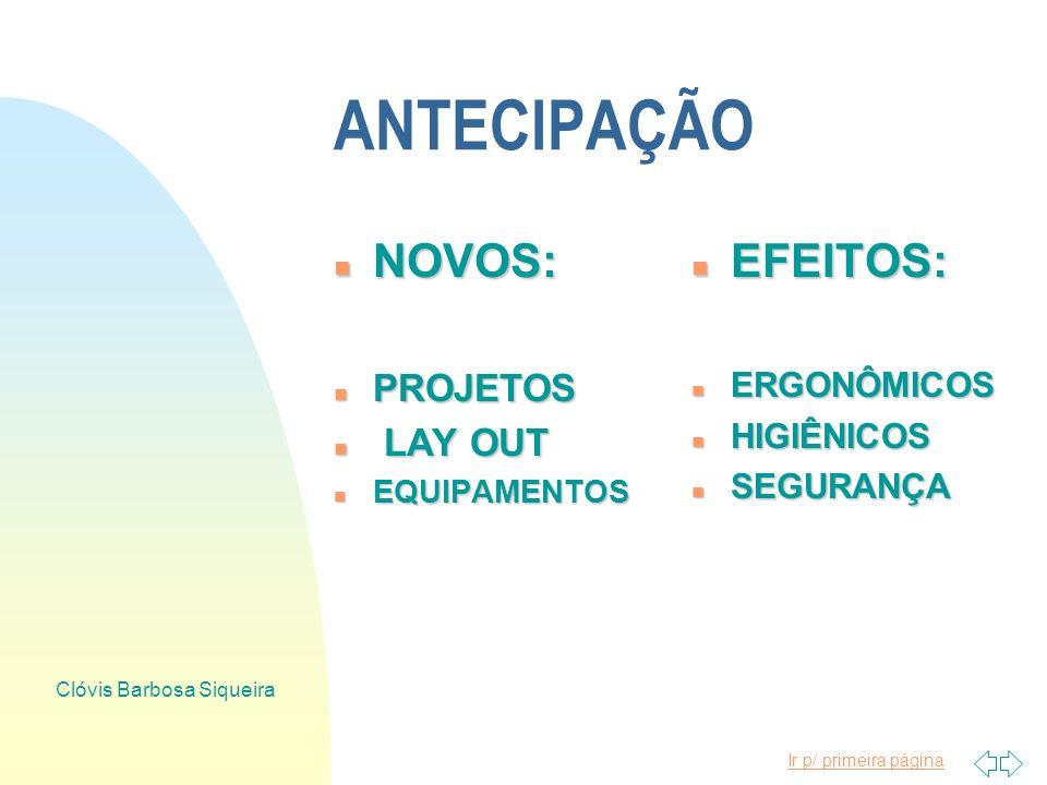 Ir p/ primeira página Clóvis Barbosa Siqueira RISCOS DE ACIDENTES
