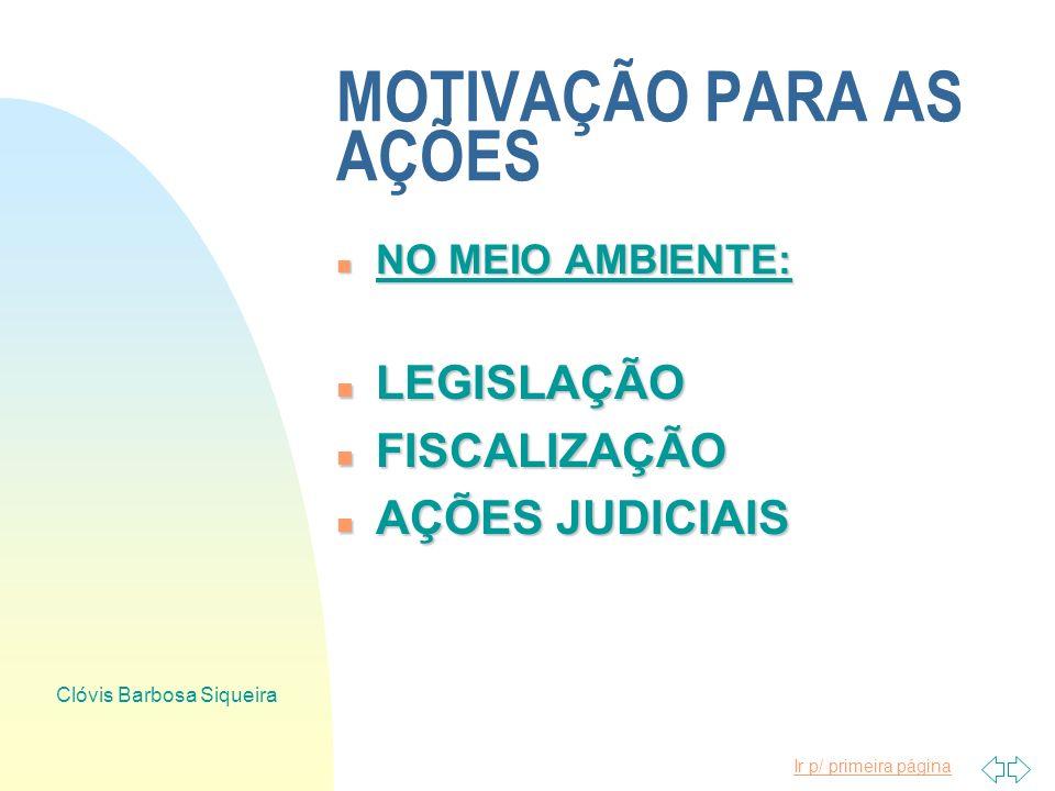 Ir p/ primeira página Clóvis Barbosa Siqueira MOTIVAÇÃO PARA AS AÇÕES n NO HOMEM n DIREITOS DO CONSUMIDOR n CUSTOS INDUSTRIAIS n CONCORRÊNCIA INTERNAC