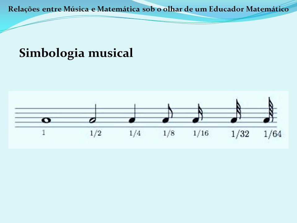 Relações entre Música e Matemática sob o olhar de um Educador Matemático Simbologia musical