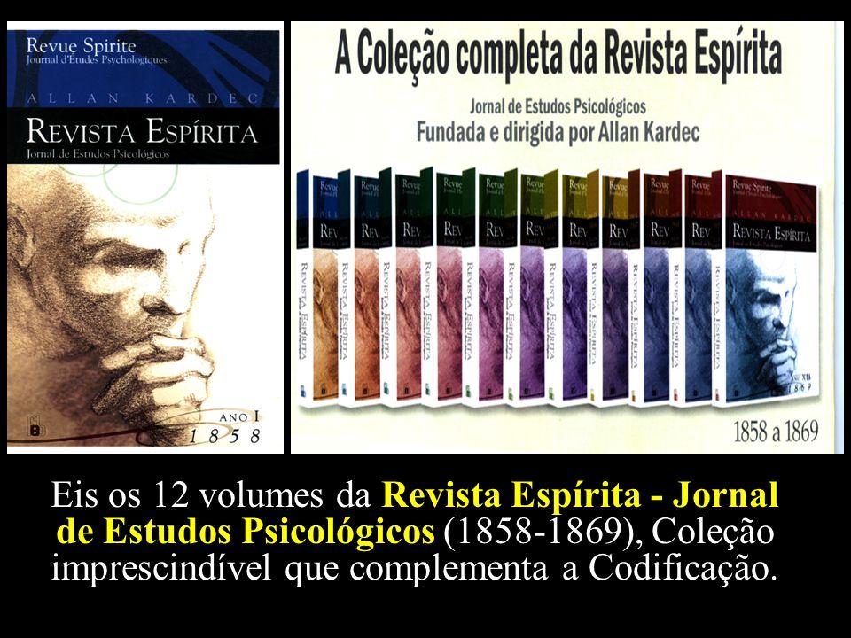 Tudo isso e muito mais mostra-nos a Revista Espírita em seus 12 brilhantes volumes, que homenageamos hoje no Ano do Sesquicentenário do seu Lançamento.