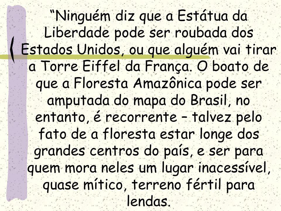 RELEVÂNCIA DA FLORESTA AMAZÔNICA