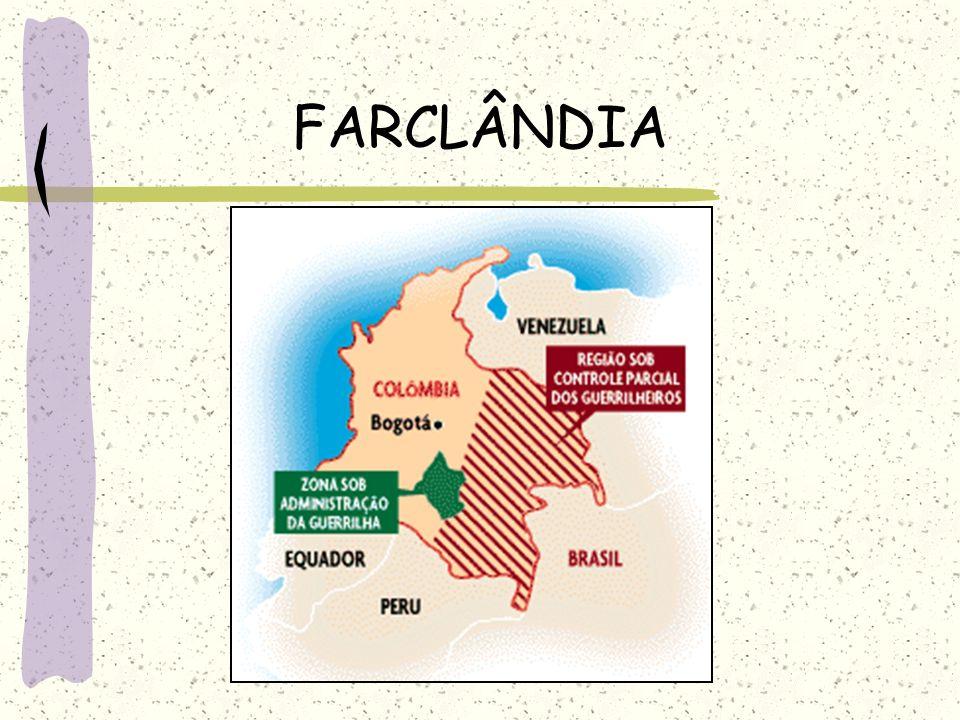 - FARC-EP (Forças Armadas Revolucionárias da Colômbia) – lideradas por Manuel Marulanda, contam com aproximadamente 20 mil homens, principalmente camp