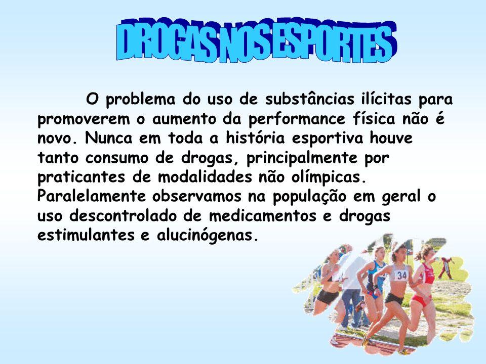 O problema do uso de substâncias ilícitas para promoverem o aumento da performance física não é novo. Nunca em toda a história esportiva houve tanto c