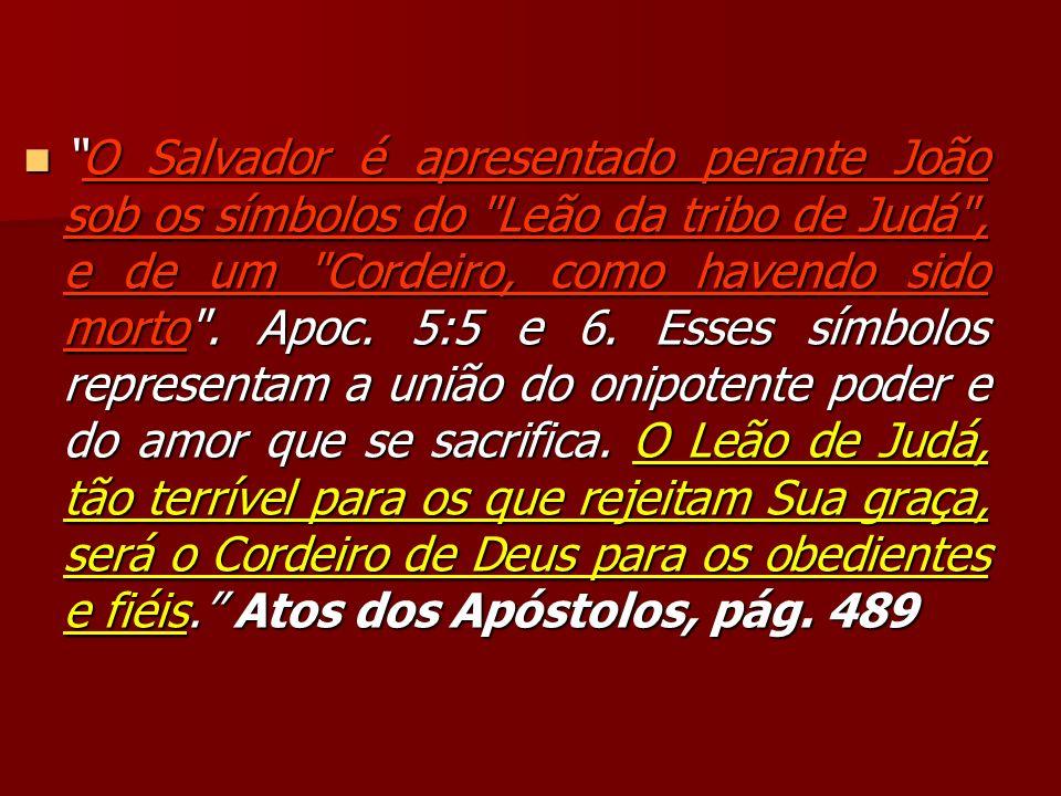 O Salvador é apresentado perante João sob os símbolos do