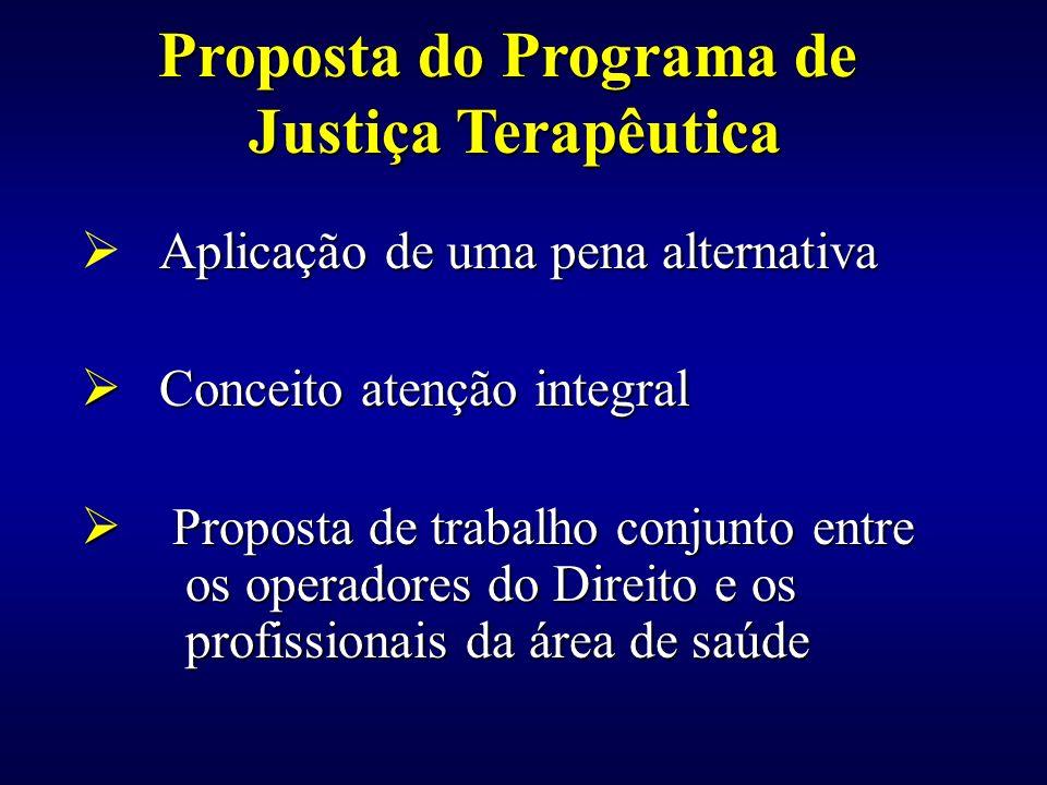 Aplicação de uma pena alternativa Conceito atenção integral Conceito atenção integral Proposta de trabalho conjunto entre os operadores do Direito e o