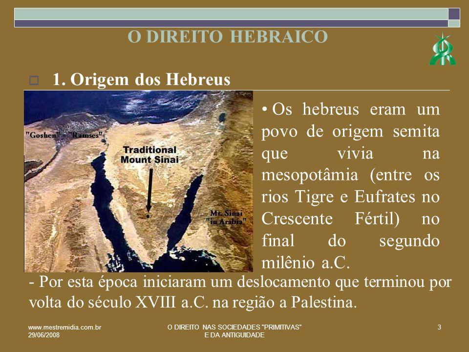 www.mestremidia.com.br 29/06/2008 O DIREITO NAS SOCIEDADES PRIMITIVAS E DA ANTIGUIDADE 4 1.1.
