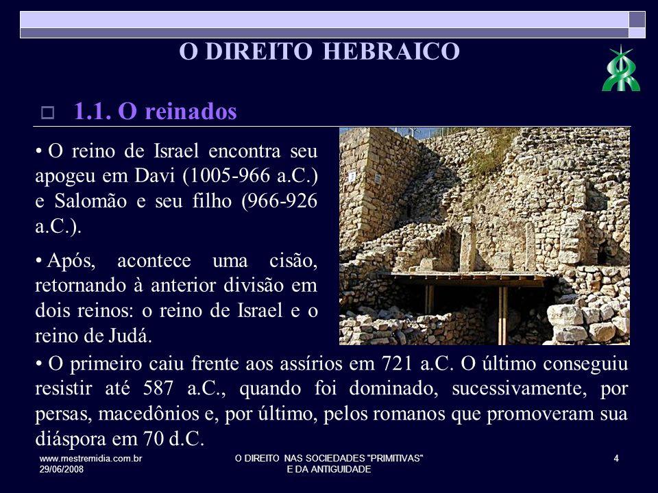 www.mestremidia.com.br 29/06/2008 O DIREITO NAS SOCIEDADES PRIMITIVAS E DA ANTIGUIDADE 5 2.