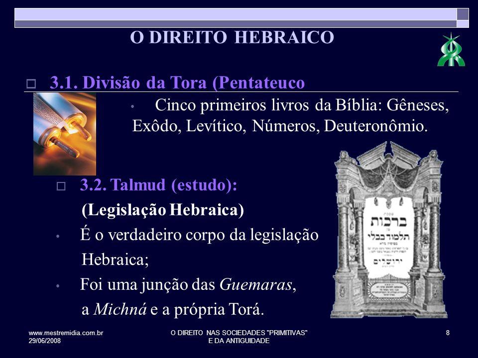 www.mestremidia.com.br 29/06/2008 O DIREITO NAS SOCIEDADES PRIMITIVAS E DA ANTIGUIDADE 9 4.