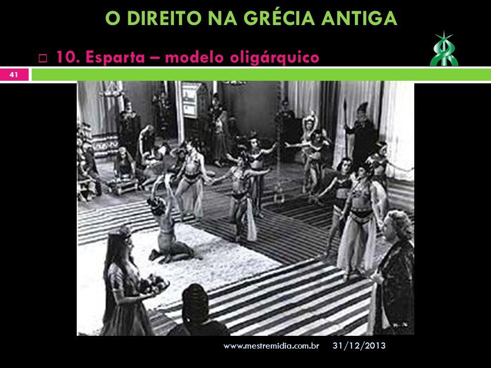 31/12/2013 41 www.mestremidia.com.br 10. Esparta – modelo oligárquico O DIREITO NA GRÉCIA ANTIGA