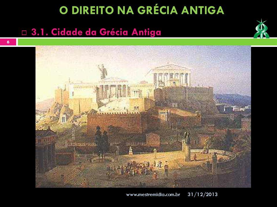 31/12/2013 6 www.mestremidia.com.br 3.1. Cidade da Grécia Antiga O DIREITO NA GRÉCIA ANTIGA