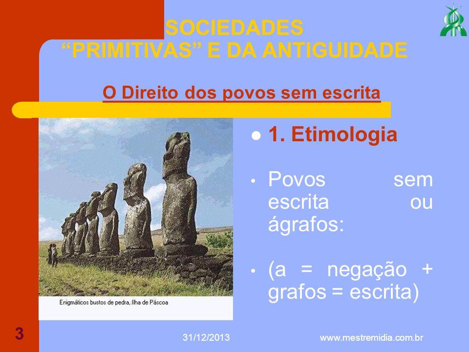 31/12/2013 4 SOCIEDADES PRIMITIVAS E DA ANTIGUIDADE 2.