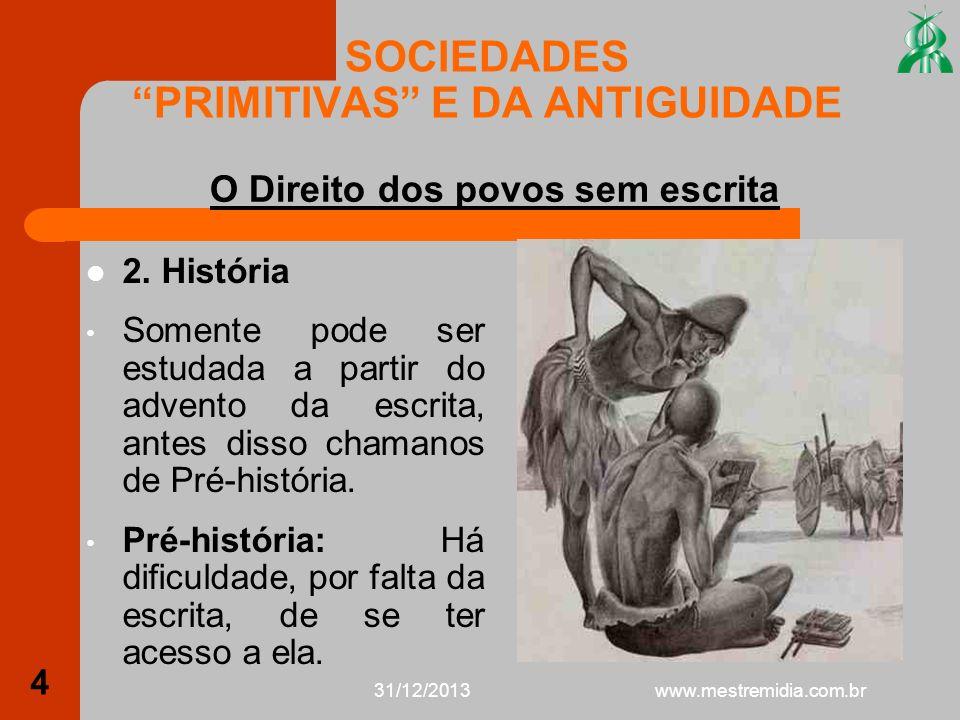 31/12/2013 5 SOCIEDADES PRIMITIVAS E DA ANTIGUIDADE 2.1.