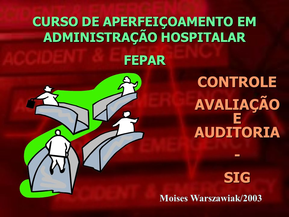 Moises Warszawiak/2003 CURSO DE APERFEIÇOAMENTO EM ADMINISTRAÇÃO HOSPITALAR FEPAR CONTROLE AVALIAÇÃO E AUDITORIA -SIG