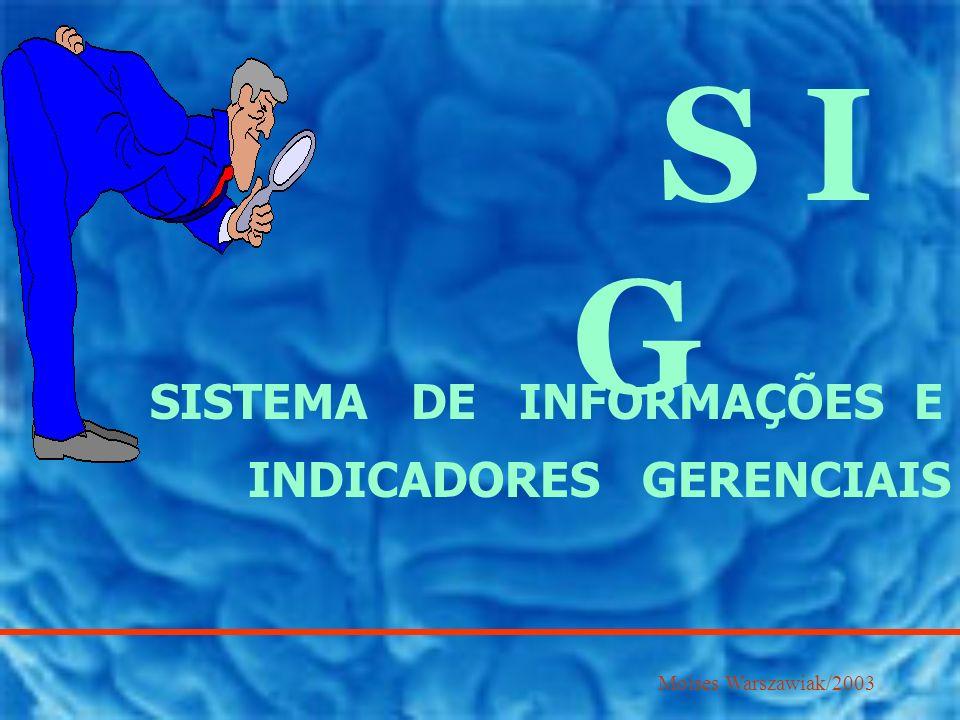 S I G SISTEMA DE INFORMAÇÕES E INDICADORES GERENCIAIS Moises Warszawiak/2003