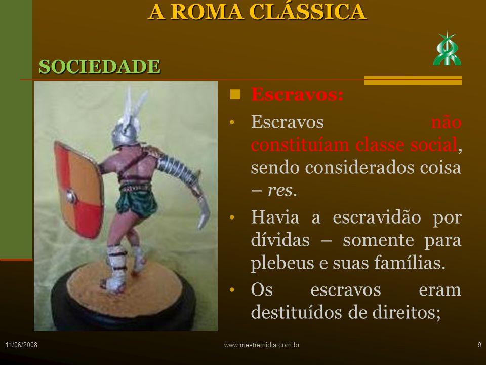 REALEZA (753-509 a.C.) REPÚBLICA (509-27 a.C.) IMPÉRIO (27 a.C.-566 d.C) Divisão do Imperio: - Alto Império (Principado – 27 a.C.
