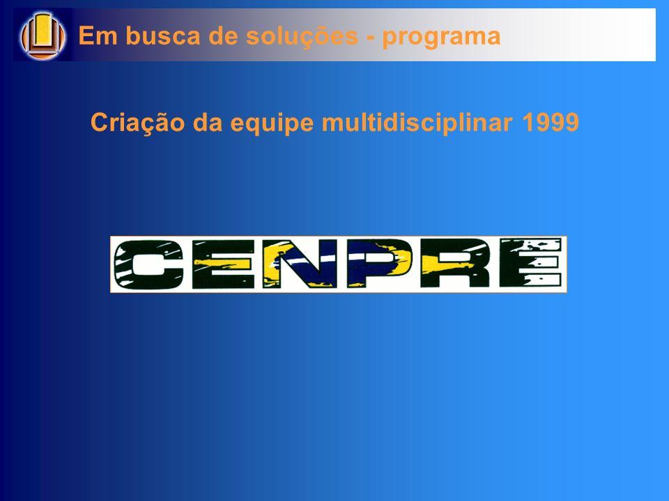 Em busca de soluções - programa Criação da equipe multidisciplinar 1999