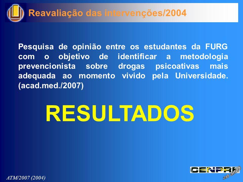 Pesquisa de opinião entre os estudantes da FURG com o objetivo de identificar a metodologia prevencionista sobre drogas psicoativas mais adequada ao m