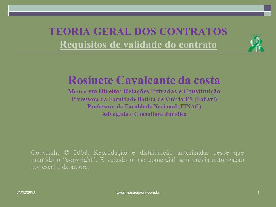 REQUISITOS DE VALIDADE DO CONTRATO 1.REQUISITOS 1.