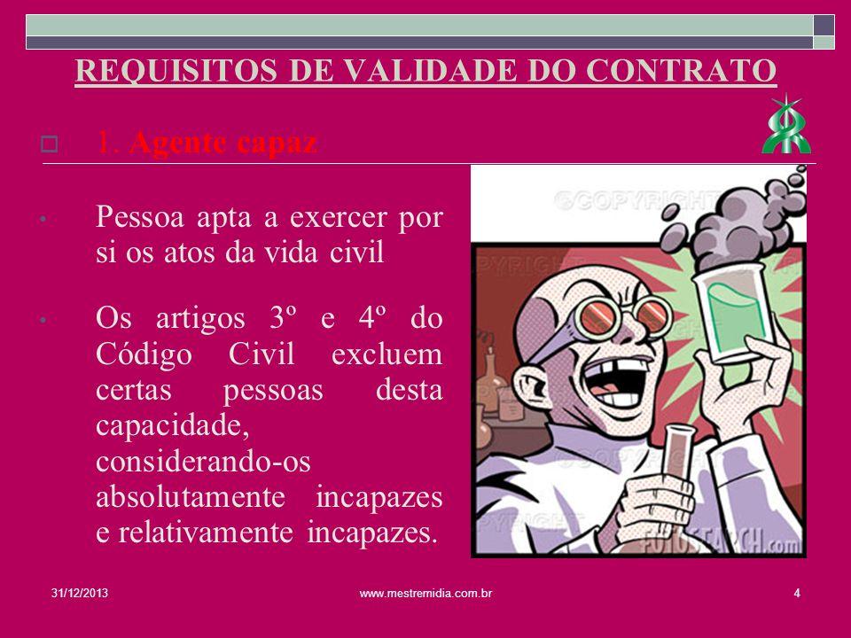 O objeto do contrato deve ser aquele não proibido por lei; Possível de ser individualizado para distinção entre outros; E apto a ser o motivo do contrato.