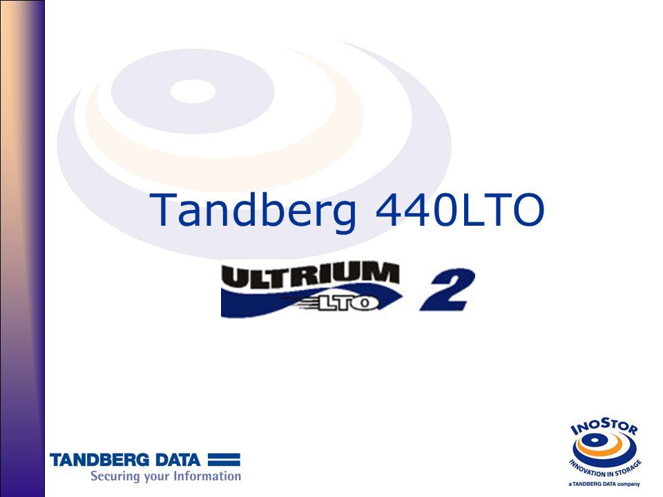 Líder na Performance comparando-se com outros fabricantes de LTO Tandberg 440LTO HP LTO 2Certance LTO 2 Data throughput 35/70MB sec30/60MB sec34/68MB sec Capacidade 200/400GB 200/400Gb Conectividade SCSI & 2GB FC 2 nd Generation FCSCSI Tempo de Read/write 6.2 m/s5.5 m/s5.92 m/s Tempo de Search/rewind 8.0 m/s5.5/7.0 m/s5.92 m/s Tape load & thread 15 segundos19 segundos24 segundos Tempo médio de acesso aos arquivos 49 segundos46 segundos51 segundos Tempo Max/Médio de rebobinamento 80 segundos88 segundos103 segundos Consumo de energia 29 W SCSI/32 W FC 50% less in sleep mode 32 W31 W
