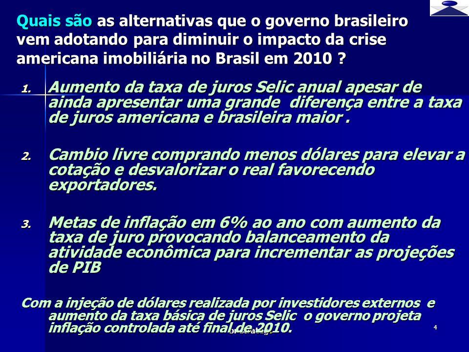 br strateg i 4 1. Aumento da taxa de juros Selic anual apesar de ainda apresentar uma grande diferença entre a taxa de juros americana e brasileira ma