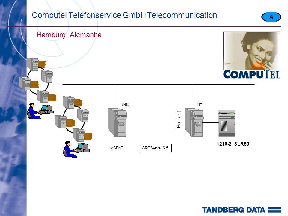 Computel Telefonservice GmbHTelecommunication Hamburg, Alemanha A 1210-2 SLR50 Proliant NTUNIX AGENT ARCServe 6.5