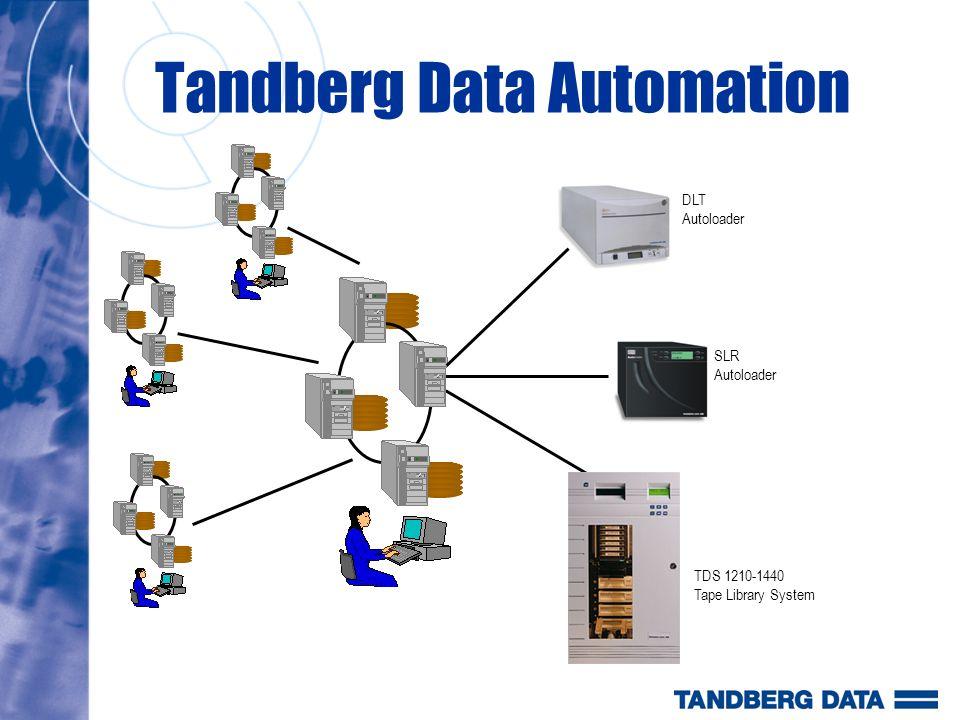 Densidade em Rack Automação TD Todos os Autoloaders Tandberg Data são oferecidos com 4 U de altura Todos os Autoloaders Tandberg Data são meio rack (8 ) permitindo a montagem meio a meio.