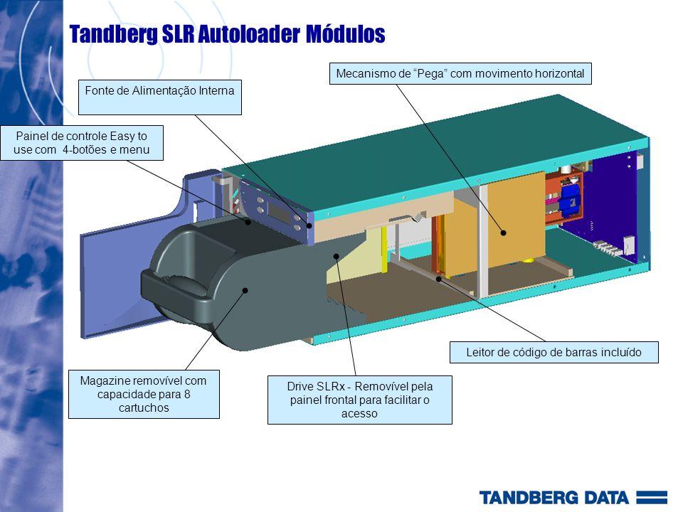 Tandberg SLR Autoloader Módulos Magazine removível com capacidade para 8 cartuchos Drive SLRx - Removível pela painel frontal para facilitar o acesso