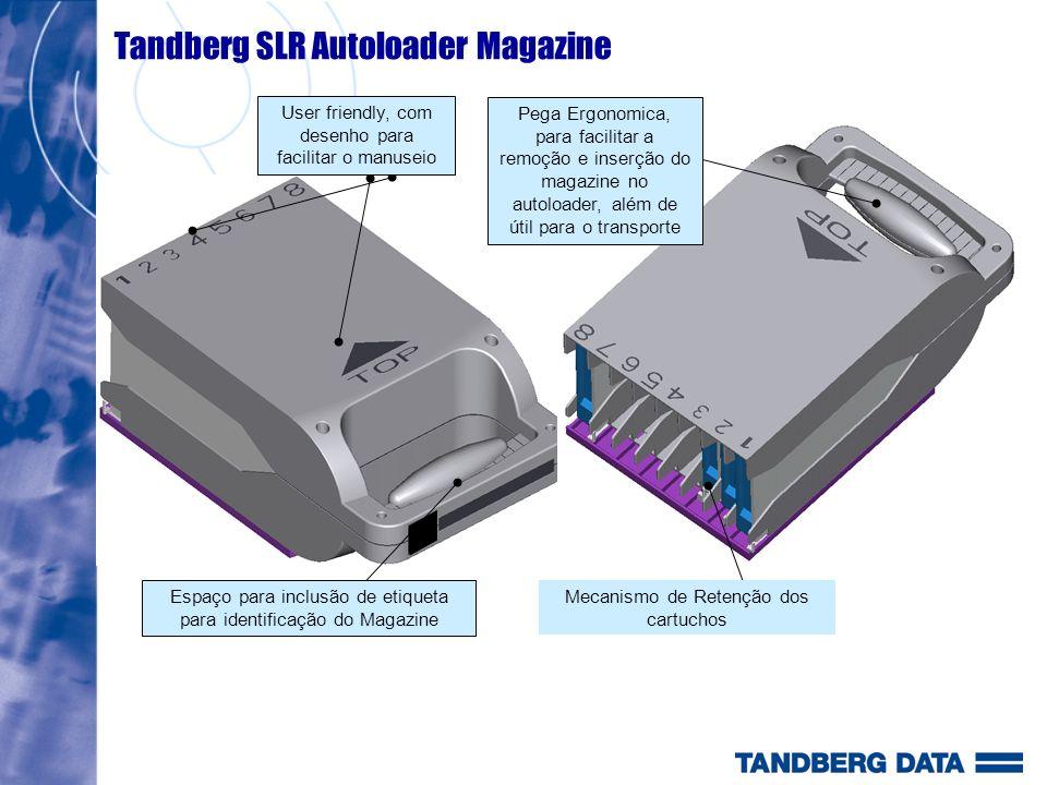 User friendly, com desenho para facilitar o manuseio Espaço para inclusão de etiqueta para identificação do Magazine Mecanismo de Retenção dos cartuch