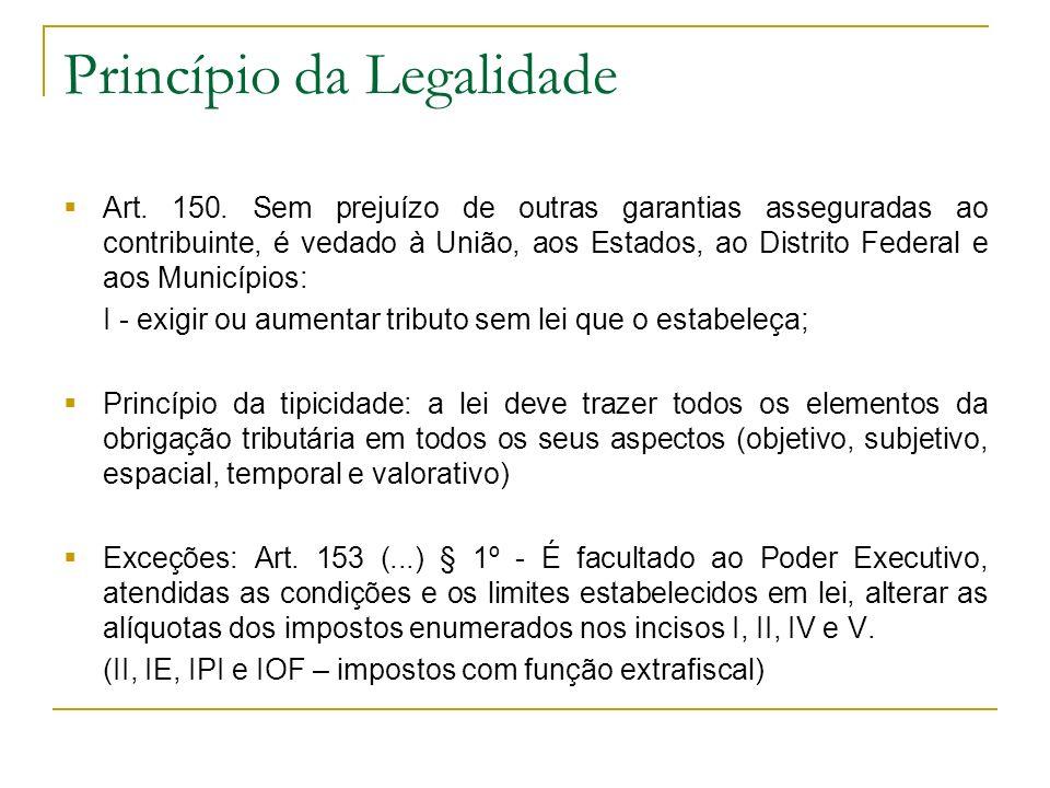 Princípio da Igualdade Art.150.