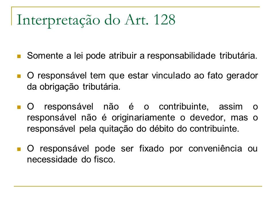 Responsabilidade Subsidiária de Terceiros Art.134.