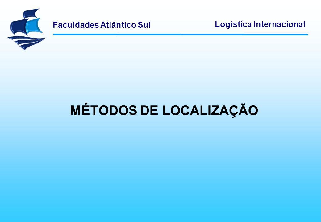 Faculdades Atlântico Sul Logística Internacional MÉTODOS DE LOCALIZAÇÃO