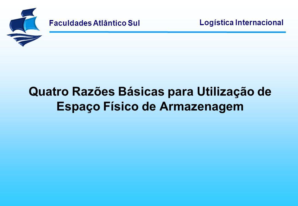 Faculdades Atlântico Sul Logística Internacional Quando utilizados por múltiplos fornecedores, os centros de distribuição avançados apresentam vantagens adicionais.