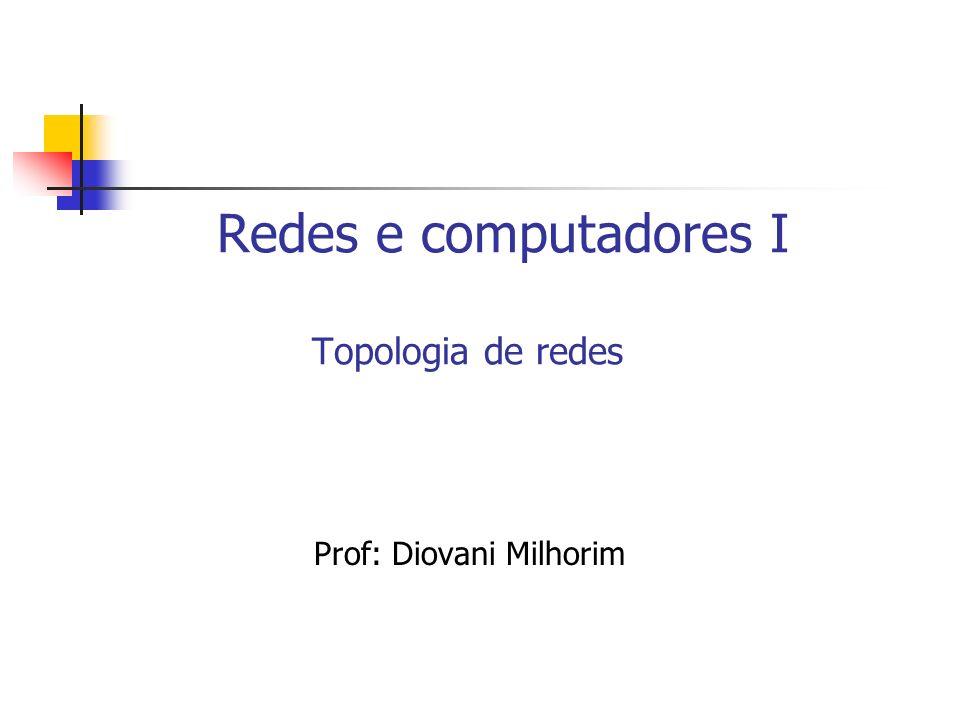 Topologia de redes A maneira como são conectados fisicamente os computadores em uma rede chama-se topologia.
