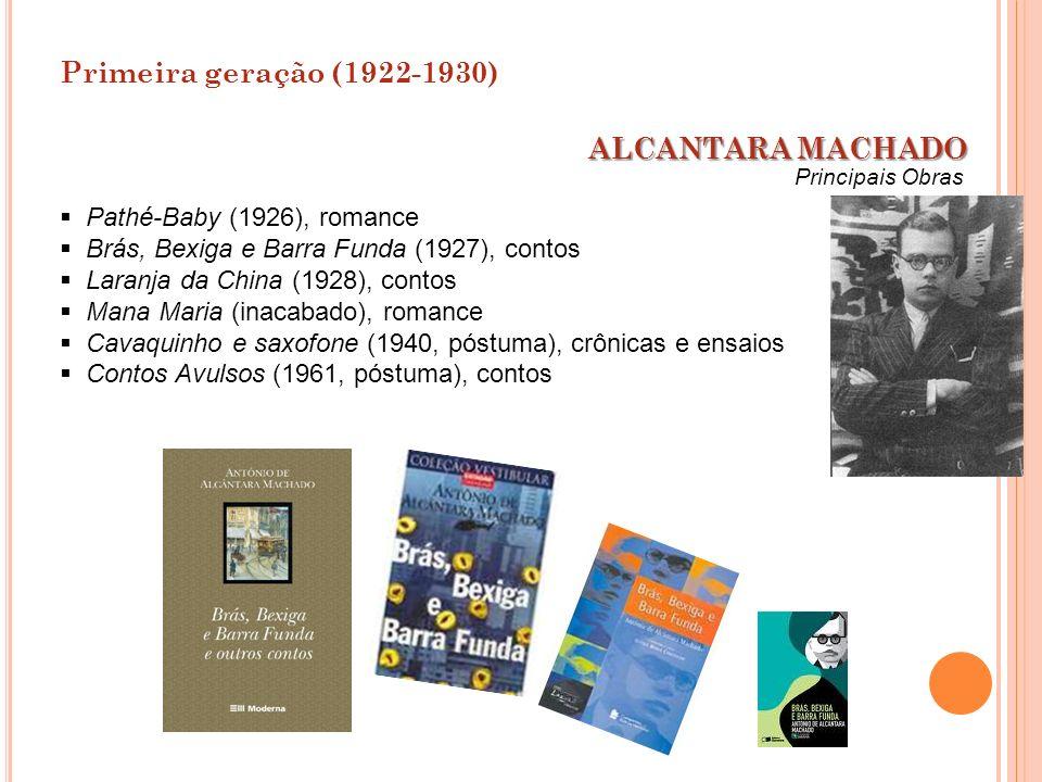 Pathé-Baby (1926), romance Brás, Bexiga e Barra Funda (1927), contos Laranja da China (1928), contos Mana Maria (inacabado), romance Cavaquinho e saxo