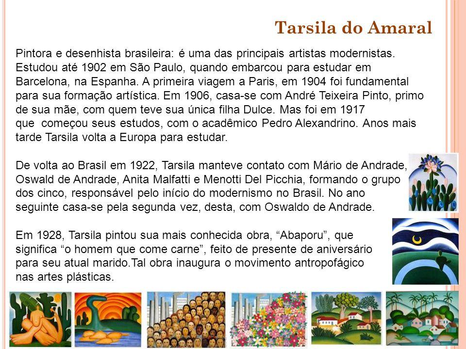 Pintora e desenhista brasileira: é uma das principais artistas modernistas. Estudou até 1902 em São Paulo, quando embarcou para estudar em Barcelona,